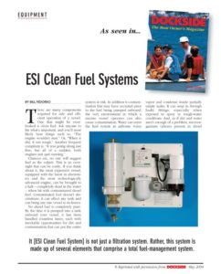 ESI Clean Fuel Systems | Dockside Reprint