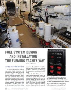 Fuel System Design and Installation - Fleming Yachts